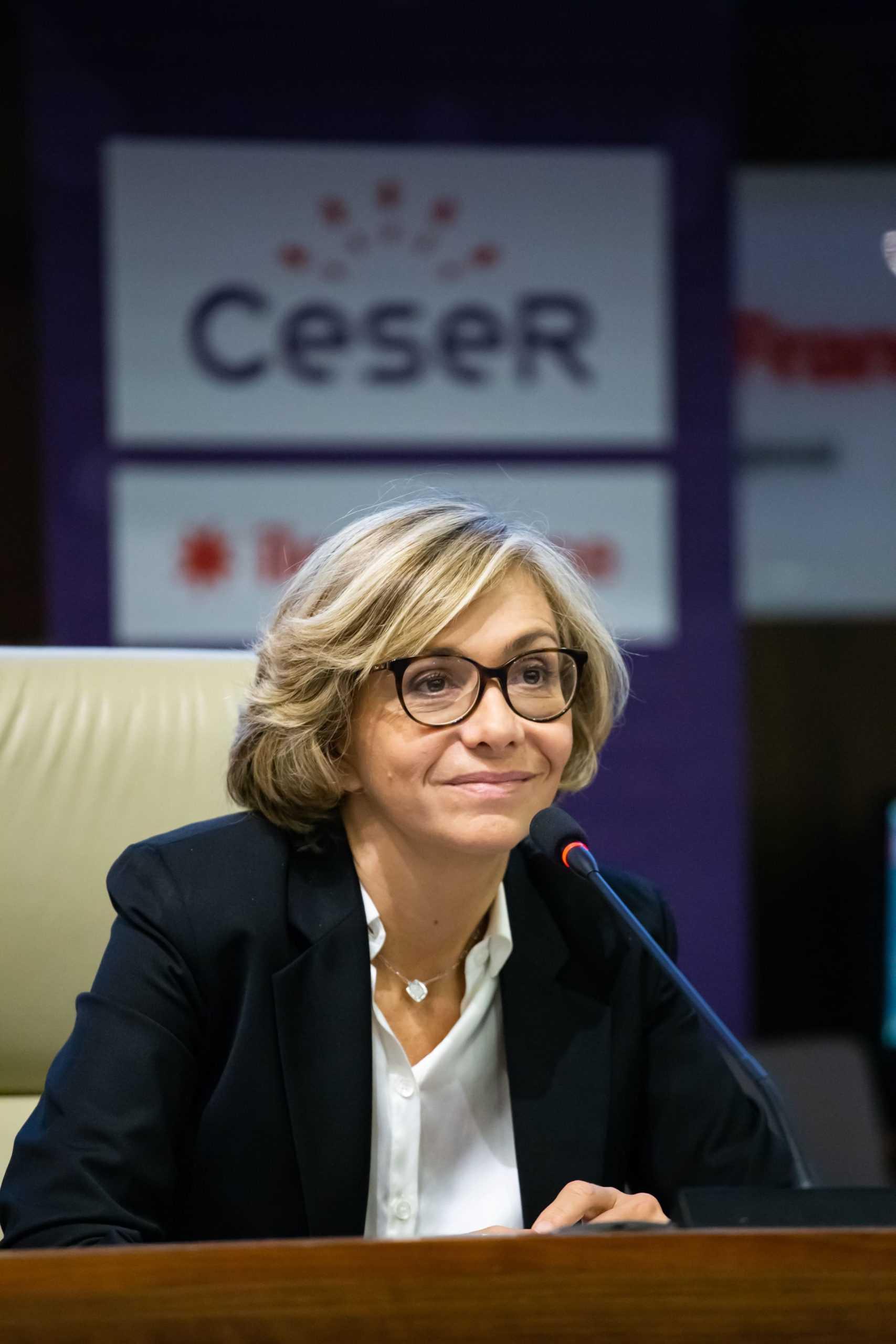 Valérie Pécresse devant l'assemblée du Ceser Île-de-France